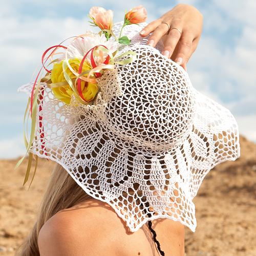 Вязание крючком цветы на шляпку
