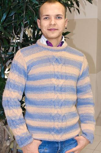 Схемы вязания спицами мужской свитер.