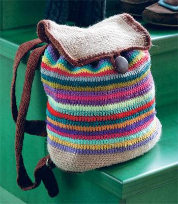 Рхемы вязаных крючком сумок из пакетов.