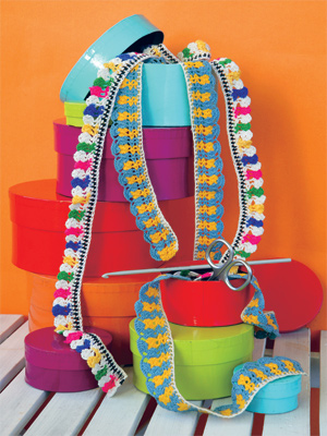 Филейное вязание, Тесьма.