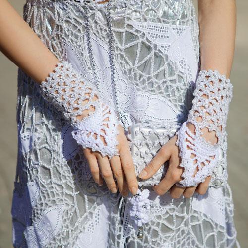 Минетки сумочки к свадебному платью вязанные крючком