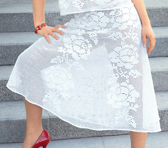 Вязание крючком юбки для
