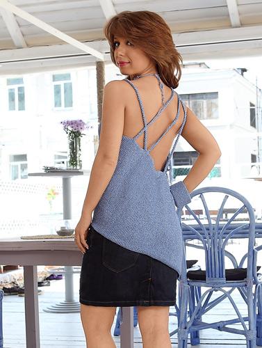 Тунисское вязание, Одежда для женщин.