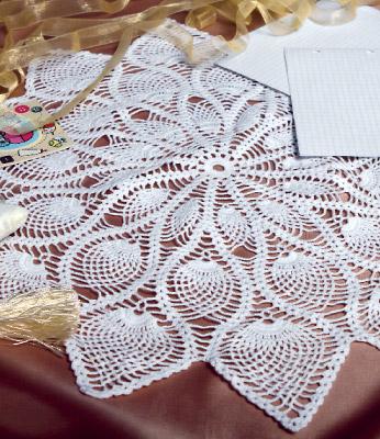Ажурное вязание, Салфетки