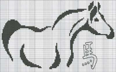 Скачать схемы вышивок конь