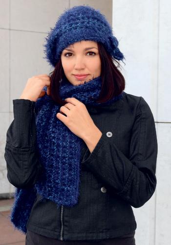 вязание спицами, шарфы-хомут.