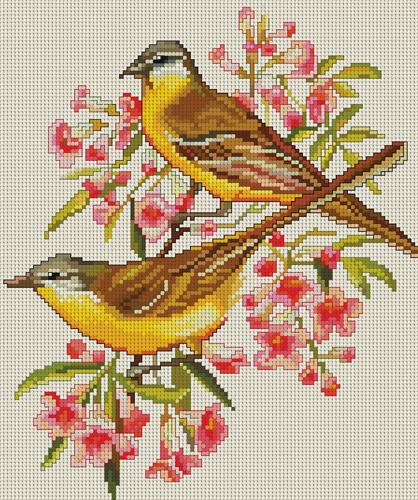 Вышивка крестом птиц скачать