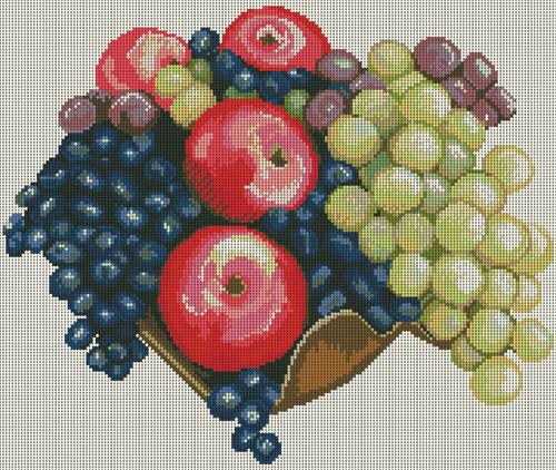 схемы вышивки крестом овощи и