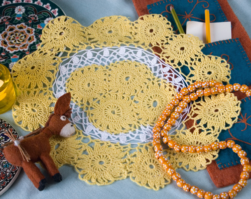 схемы вязки ажурного шарфа.
