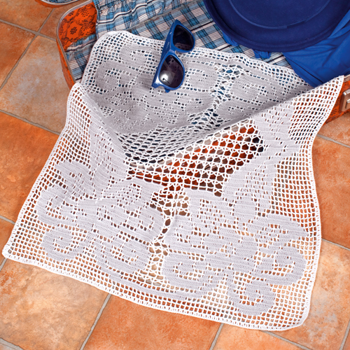 Филейное вязание салфетки