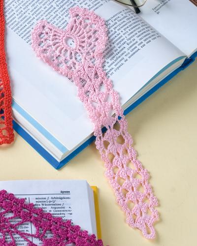 схемы Розовая закладка b для книг /b.