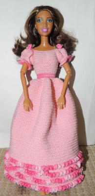 """платье светлое """"Розовые розы"""" и сумочка, Одежда для кукол"""