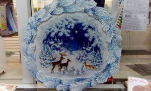 Вышивка крестом Рождественская ночь от Риолис