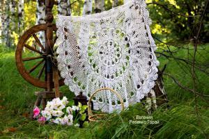 Скатерть крючком, Ажурное вязание