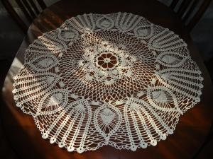 скатерть-салфетка, Ажурное вязание