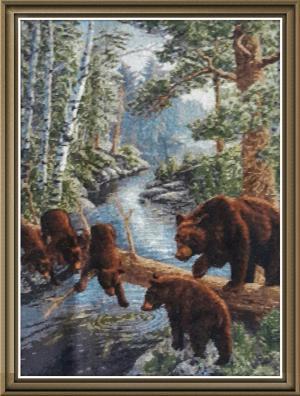 Медвежий край, Вышивка крестиком