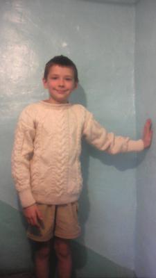 кофта на мальчика, Вязание на спицах
