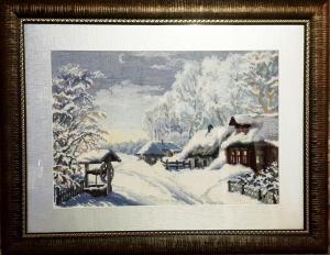 Зима, Вышивка крестиком