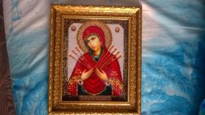 Икона семистрельница, Церковная тематика