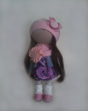 Интерьерная кукла Фиалка, Шитьё
