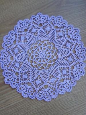 Салфетки, Ажурное вязание