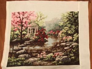 Весенний сад , Вышивка крестиком