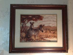 зебры в саванне , Картины и панно