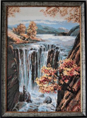 Водопад, Вышивка крестиком
