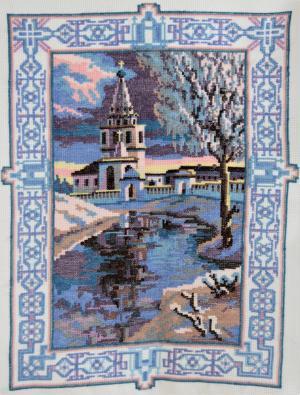 Колокольня Суздальского Кремля, Вышивка крестиком