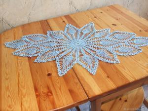 Салфетка ажурная с люрексом 2, Ажурное вязание