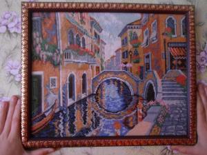 Венеция, Вышивка крестиком