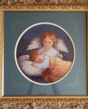 Ангел-хранитель. , Вышивка крестиком