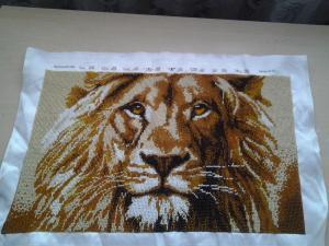 Лев, Вышивка бисером
