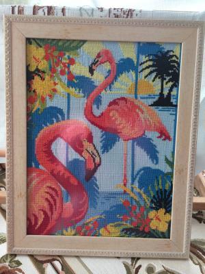 Фламинго, Вышивка крестиком