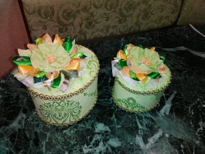 Шкатулки салатовые, Декоративные аксессуары