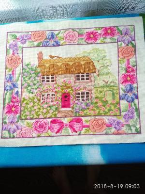 Розовый сад, Картины и панно