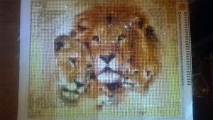 Алмазная вышивка Львы
