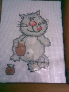 Кот со сметаной