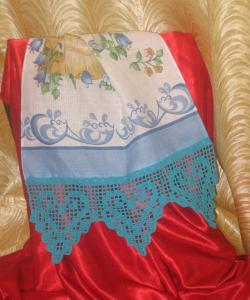 Рушники, Филейное вязание