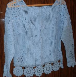 Одежда для женщин, Филейное вязание