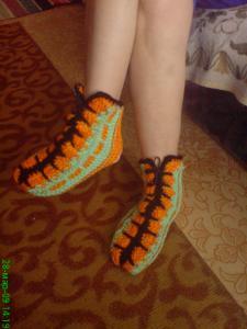 Обувь для взрослых, Вязание спицами