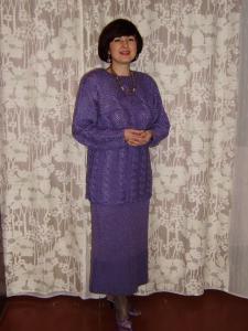 Женские комплекты, Вязание спицами