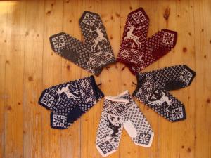 Варежки, перчатки, митенки, Вязание спицами