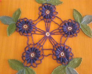 Салфетки, Тамбурное вязание