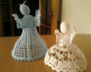 Ангелочки, Филейное вязание
