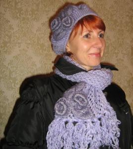 Шапочка с шарфиком