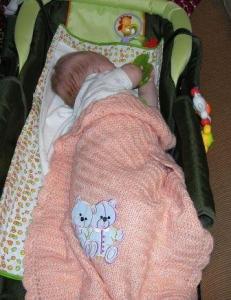 Детские одеяла, Вязание спицами