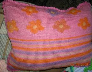 Подушки, Вязание спицами