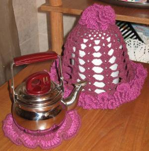 Грелки на чайник, Вязание крючком