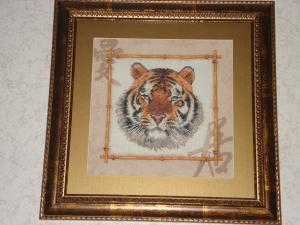 Уссурийский тигр (размер 25х25 см)